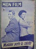 "MAGAZINE "" MON FILM "" SPENCER TRACY ET KATHARINE HEPBURN DANS "" MADAME PORTE LA CULOTTE ""1951- GABY ANDREU - Cinéma/Télévision"