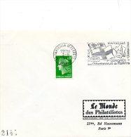 Pli Avec Flamme (1° Congrès Des Collectionneurs De Flammes D'Oblitération ) Marseille Le 20 / 6 /1971 - Marcophilie (Lettres)