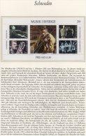 ABBA Schwedische Musik 1983 Schweden Block 11 ** 5€ Volksmusik Jazz Oper Klavier Bf M/s Music Bloc Art Sheet Of Sverige - Feuilles Complètes Et Multiples