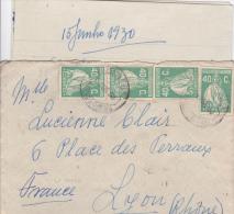 PORTUGAL - 1930 - ENVELOPPE De CARAMULO (PAREDES DO GUARDAO) Pour LYON - Marcophilie