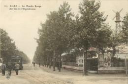 59 LILLE - LE MOULIN ROUGE AVENUE DE L HIPPODROME ( TRAM - CPA COLORISEE ) - Lille