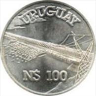 * URUGUAY - CONMEMORATIVA Salto Grande N$100 - Plata (1981) - Uruguay