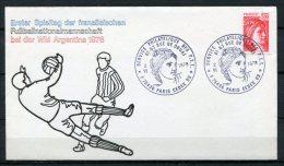 "Frankreich,France1978 Sonderbeleg Fußball""Erster Spieltag Der Franz.Fußballnationalmann Schaft"" Mit SST""Paris"" 1 Beleg - Commemorative Labels"