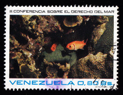 VENEZUELA - Scott #1065 Deep Sea Fish / Used Stamp (eb16365) - Fishes