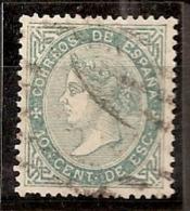 ESPAÑA 1867 - Edifil #91 - Precio Cat. €34 - 1850-68 Royaume: Isabelle II
