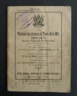 CARNET à  VIGNETTES  Des Retraités VETERANS Des ARMEES Terre & Mer 1870-1871 - Non Classés