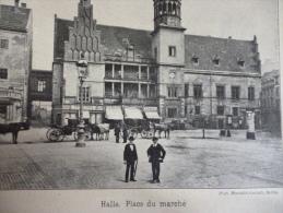 Allemagne , Deutsch , Halle , Place Du Marché , édition Bong , Circa 1914 - Documenti Storici