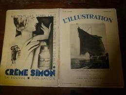 5 Novembre 1932 Le NORMANDIE  Couverure Et Pages Afférentes Au Sujet. - Schiffe