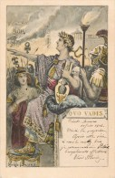 ILLUSTRATEUR G.G. BRUNO QUO VADIS ROME ANTIQUE JULES CESAR ROME EN FEU GUERE 1900 ROMA ITALIA - Illustrators & Photographers