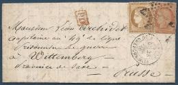 BALLON MONTE guerre 1870/71 -50e ballon Le Tourville   D�part: 23/12/1870   Destination: Wittemberg (Saxe)