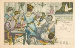 ILLUSTRATEUR G.G. BRUNO QUO VADIS ROME ANTIQUE ORGIE AU PALAIS ROMAIN 1900 ROMA ITALIA - Illustrateurs & Photographes