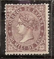 ESPAÑA 1868 - Edifil #98a - MLH * - Unused Stamps