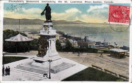Kanada - QUEBEC - CHAMPLAINS MONUMEMT Overlooking The St.Lawrence River, Seltene Frankierung, R.E.C.P Marke - Quebec