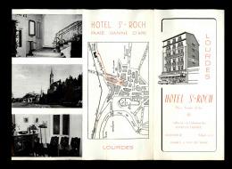 64 - LOURDES - DEPLIANT TOURISTIQUE - HOTEL SAINT-ROCH - Sports & Tourisme