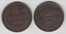 **** GUERNESEY - GUERNSEY - 8 DOUBLES 1889 **** EN ACHAT IMMEDIAT !!! - Guernesey