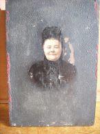 PARIS TRES RARE PHOTO MONTAGE SUR BOIS 10X14X5-DAME FAITE PAR L'ARTISTE PEINTRE L.DUGARDIN-84 FAUBOURG ST HONORE PARIS - Anciennes (Av. 1900)