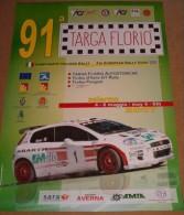 X LOCANDINA 91 TARGA FLORIO FIA EUROPEAN RALLY CUP 2007 DIM. 35 X 48 FIAT ABARTH - Manifesti