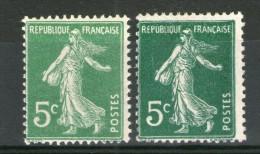 N° 137 II*-vert-jaune (petit) 137 II* Foncé Sur Papier Blanc  (Grand)-(X ???)(neuf Sans Gomme) - Variétés Et Curiosités