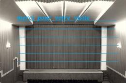Cpp 35 COMBOURG Scène De Spectacle , Salle Du Patronage LE CHATEAUBRIAND ( Escalier Rideaux Luminaire ) - Combourg