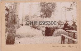 PHOTO 19 EME SIECLE FORMAT CABINET - FONTAINEBLEAU 77 SEINE ET MARNE - CAVERNE DES BRIGANDS - Photos
