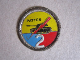 Placchetta Metallo Seconda Divisione Corazzata Americana PATTON - Militari