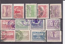POLAND - 1918 - EMISSION LOCALE PRZEDBORZ MICHEL Nr.4 + 6 + 7/9 + 11/14 + 15/18 */OBLITERES - COTE MINIMUM = 200 EUR.