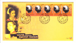 South Africa - First Day Cover - 07.08.2001 - World Conference Against Racism - 5v Stamp Fdc - Afrique Du Sud (1961-...)