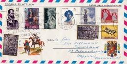 ESPANA MALLORCA 1964? - Filatelica Schmuckbrief Mit 9 Fach Sondermarken Frankierung, Gel.v. Mallorca Nach Braunschweig - Spanien