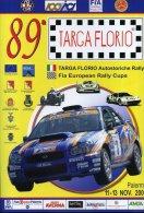 X LOCANDINA 89 TARGA FLORIO FIA EUROPEN RALLY CUP 2005 F.TO 33X48 CARTONCINO PESANTE - Manifesti