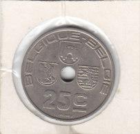 25 CENTIMES Cupro  Nickel Léopold III 1938 FR/FL - 1934-1945: Leopold III