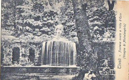 LAZIO ROMA TIVOLI FONTANA OVATA A VILLA D'ESTE - MICHELANGIOLO  CARTOLINA 1914 - Parks & Gardens