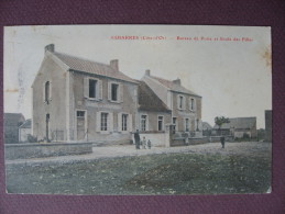 CPA 21 ESBARRES Poste & Ecole Des Filles 1906 Colorisée  ANIMEE  Canton SAINT JEAN DE LOSNE SERIE POSTES Cote D´Or - Sonstige Gemeinden