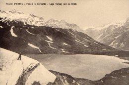 [DC7013] VALLE D'AOSTA - PICCOLO SAN BERNARDO - LAGO VERNEY - Old Postcard - Italia
