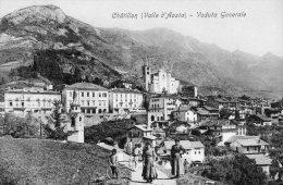 [DC7015] VALLE D'AOSTA - CHATILLON - VEDUTA GENERALE - Old Postcard - Italia