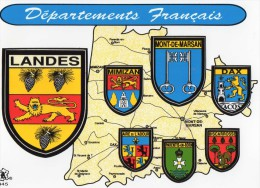 CP Adhésif  Département Des Landes, Mimizan, Mont De Marsan, Dax, Aire/adour, Biscarosse, Parentis En Born  (23.31) - Francia