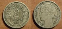 1934 - France - 2 FRANCS, Morlon, Cupro-aluminium - I. 2 Francs