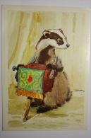 USSR . Durov Animal Theater - Circus. Badger With Barrel Organ. 1979 - Cirque