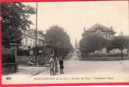 CPA 95 MONTLIGNON Canton De SAINT LEU LA FORET St ENtrée Du Pays Fondation Pigny - France