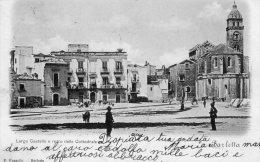 [DC7018] BARLETTA - LARGO CASTELLO E RETRO DELLA CATTEDRALE - Viaggiata 1900 - Old Postcard - Barletta