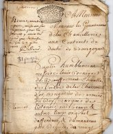 VP42 - ASSON 1723 - Acte Mr DE BEAUFFREMONT Mis De LISTENOIS  Contre Mr BAULT - Seals Of Generality