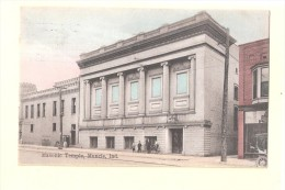 M07 Indiana Muncie Masonic Temple USED MUNCIE 1911 WITH STAMP - Muncie