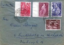 BELGIEN 1965, 4 Sondermarken Auf Brief Gel.n. Frankfurt - Belgien