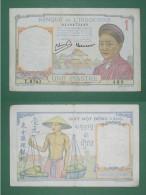 INDOCHINE FRANCAISE Billet 1 Piastre ANNAMITE Signature 11 1942/1945 Etat Français - Indochine