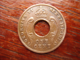 BRITISH EAST AFRICA USED ONE CENT COIN BRONZE Of 1942. - East Africa & Uganda Protectorates