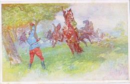 AK PFERDE HORSES SOLDAT  OFFIZIELLE KARTE KRIEGS No.267.MILITARIA OLD POSTCARD