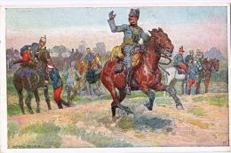 AK PFERDE HORSES SOLDAT  SIGNIERT KARTE : LUDWIG KOCH ,B.K.W.I. NR. 683-5..MILITARIA OLD POSTCARD