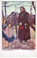 AK PFERDE HORSES SOLDAT  SIGNIERT KARTE :Fritz Zerritsch Heldengrab. Nr.195.MILITARIA OLD POSTCARD 1915