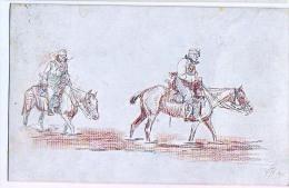 AK PFERDE HORSES SOLDAT .MILITARIA OLD POSTCARD 1917
