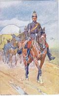 AK PFERDE HORSES SOLDAT  SIGNIERT KARTE : LUDWIG KOCH ,B.K.W.I. NR. 830-6..MILITARIA OLD POSTCARD 1906