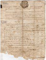 VP46- CALORGUEN 1766 - Acte De Compte - Seals Of Generality